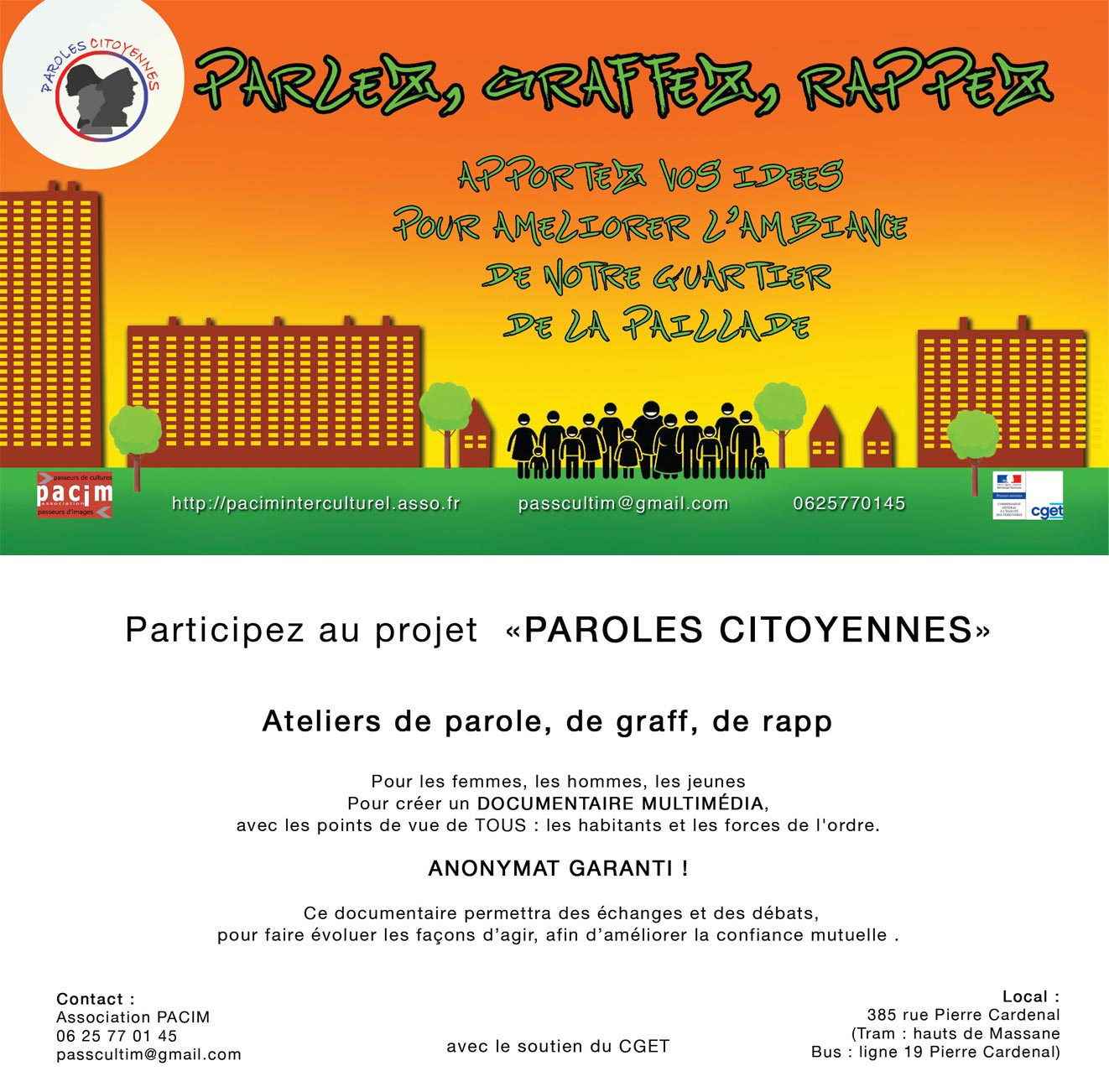 flyer paroles citoyennes recto